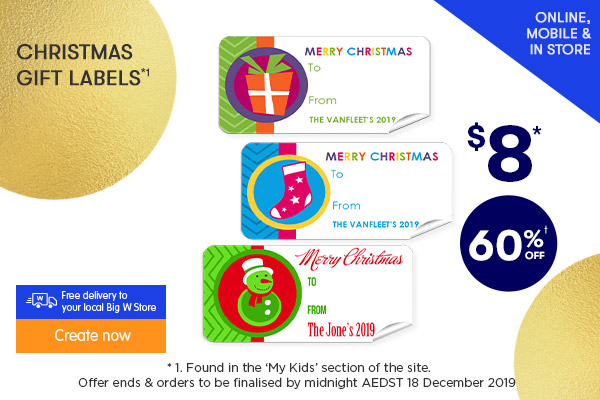 $8 for Christmas Gift Labels *1
