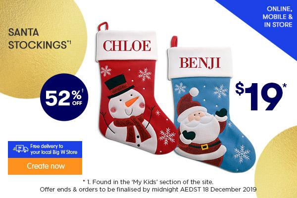 $19 for Santa Stocking (NEW stocking designs this season) *1