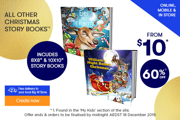 Plus 60% off ALL other Christmas Story Books - incl 8x8 Story Books & 10x10 Story Books *1