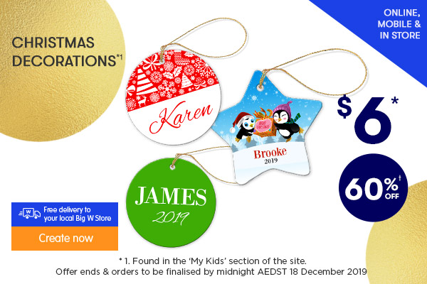 $6 for Christmas Ornaments - Star & Round *1