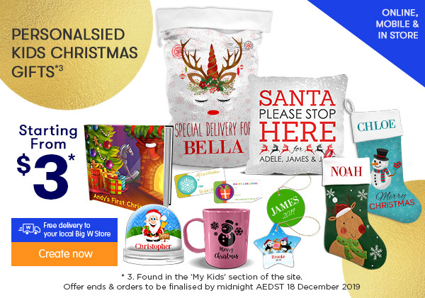 Personalised Kids Christmas Gifts *3