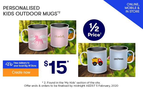 $15 Kids Outdoor Mugs *2