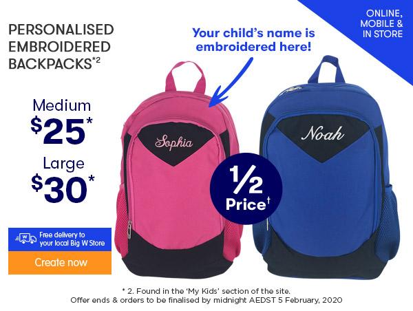 Embroidered Backpacks - Medium $25 & Large $30 *2