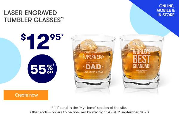 Engraved - Tumbler Glasses $12.95 *1