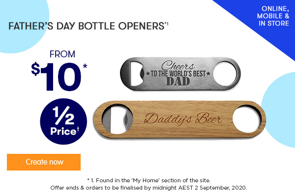 Engraved - Stainless Steel Bottle Openers $10, NEW FD Content - Engraved - Wooden Bottle Opener - $12.50 (NEW) *1