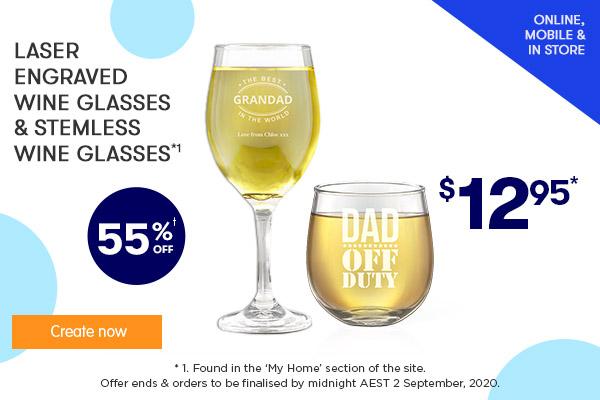 Wine Glasses $12.95 & Stemless Wine Glasses $12.95