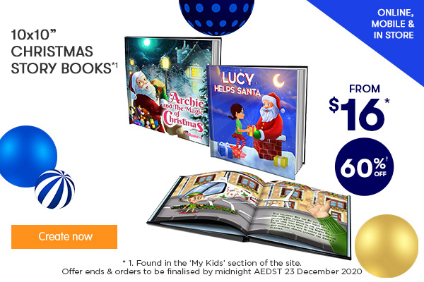 60% off 10x10 Soft Cover & Hard Cover Christmas Story Books
