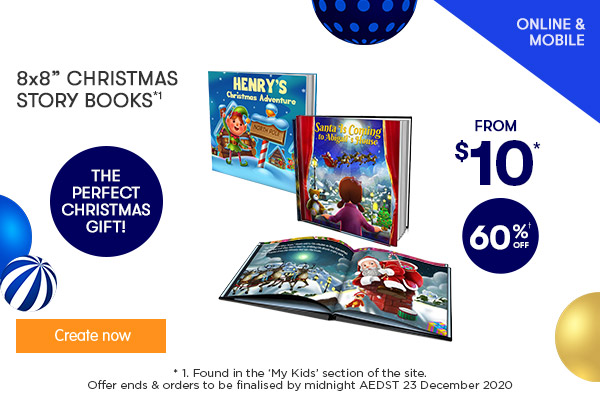 60% off 8x8 Soft Cover & Hard Cover Christmas Story Books *1