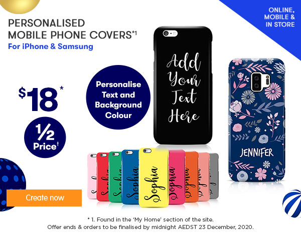 3D-Wrap Mobile Phone Designer Covers $18 (feat. BRAND NEW - iPhone 11 range)