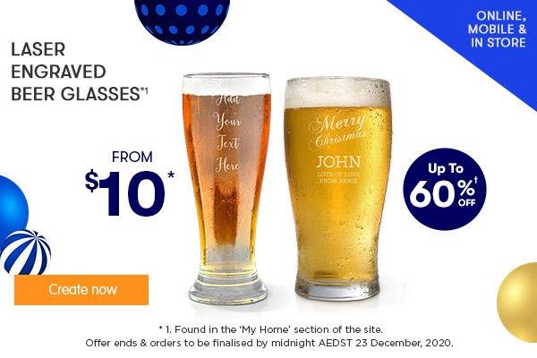 Engraved - Standard  Premium Beer Glasses