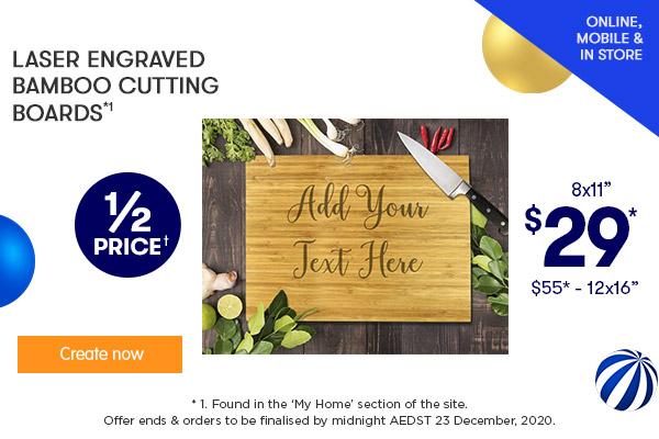 Engraved - 8x11 Bamboo Cutting Board $29 & 12x16 Bamboo Cutting Board $55 (NEW designs)