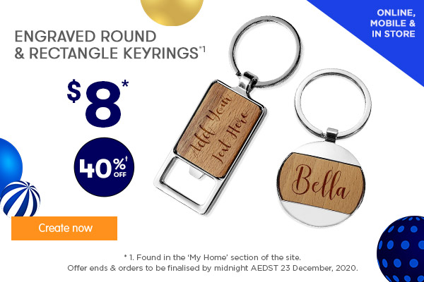 Engraved Round & Rectangle Keyring $8 (only Round Keyring)