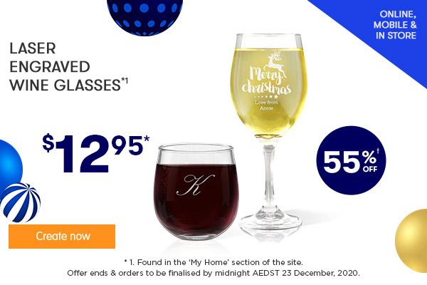 Engraved - Wine Glasses $12.95 *1