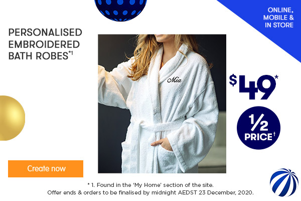 Embroidery - Bath Robes $49