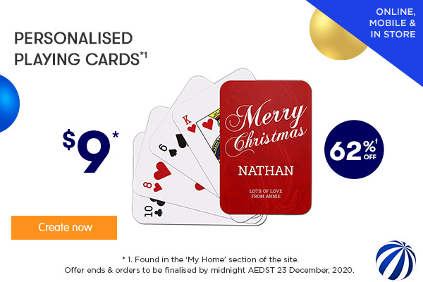 $9 for Playing Cards