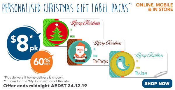 $8 for Christmas Gift Labels