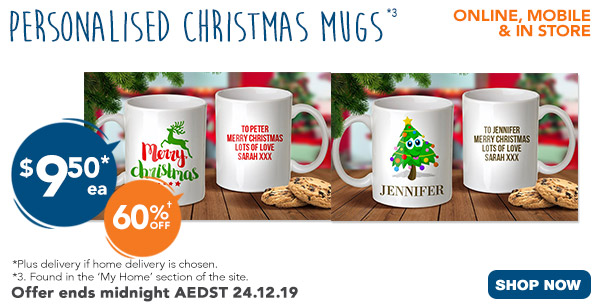 $9.50 for Christmas Standard Mugs
