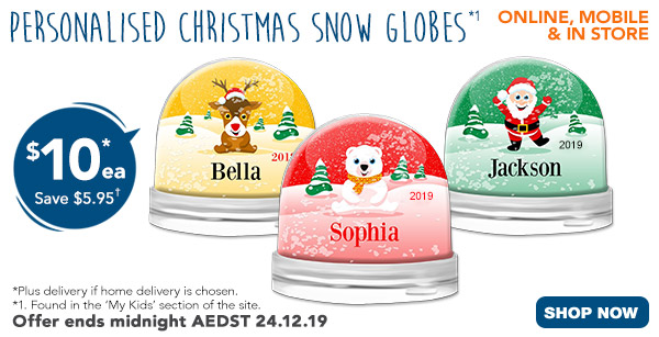 $10 for Christmas Snow Globes