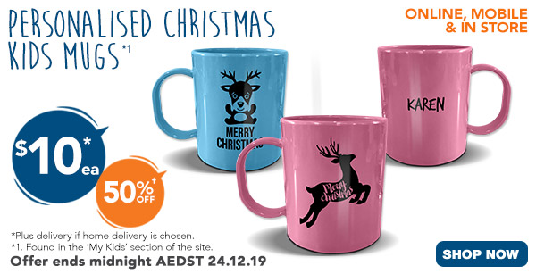 $10 for Christmas Kids Mugs