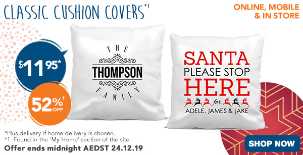 $11.95 Classic Cushions Covers (Feat. Adult designs)