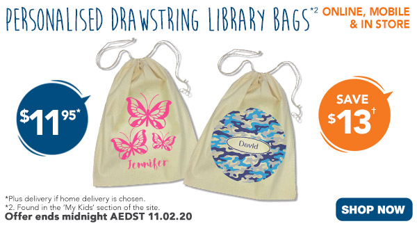 $11.95 ALL Drawstring Library Bags *2