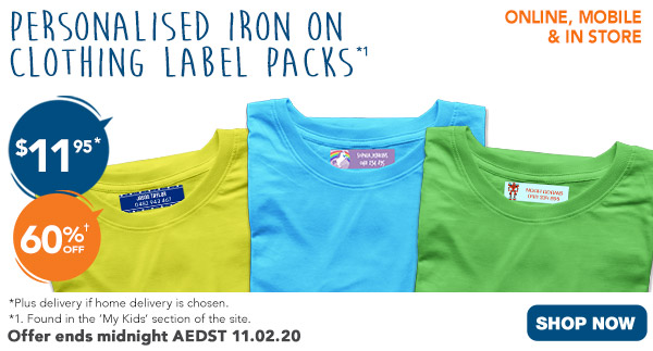 $11.95 ALL Iron On Clothing Labels  *2