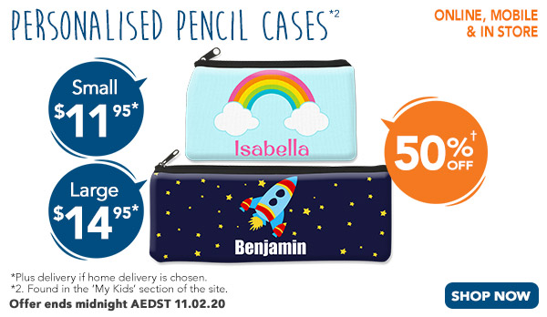 Pencil Cases - Small $11.95 & Large $14.95 *2