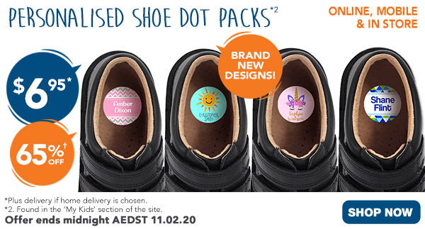 $6.95 ALL Shoe Dots *2