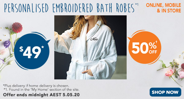 Embroidery - Bath Robes $49 *1