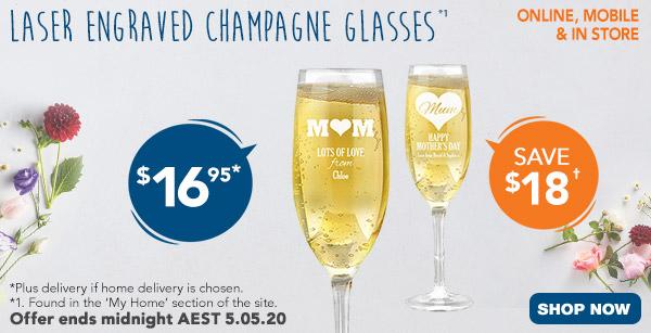 Engraved - $16.95 Champagne Glasses *1