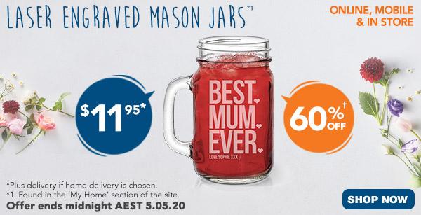 Engraved - $11.95 Mason Jars *1