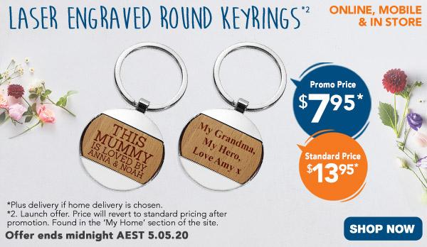 Round Engraved Keyrings