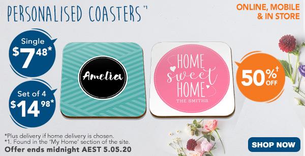 $7.50 Single Coaster, $15.00 Set of 4 Coasters *1