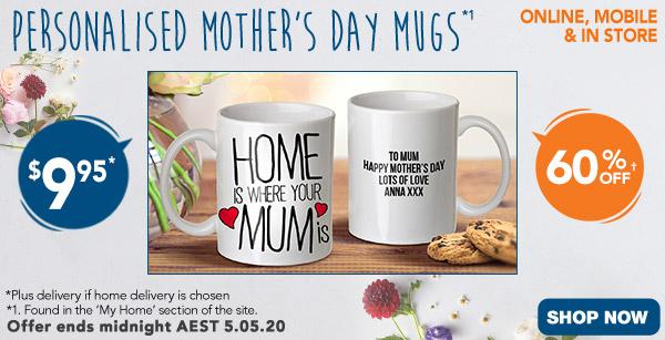 Standard White Mugs $9.95 (60% off) *1
